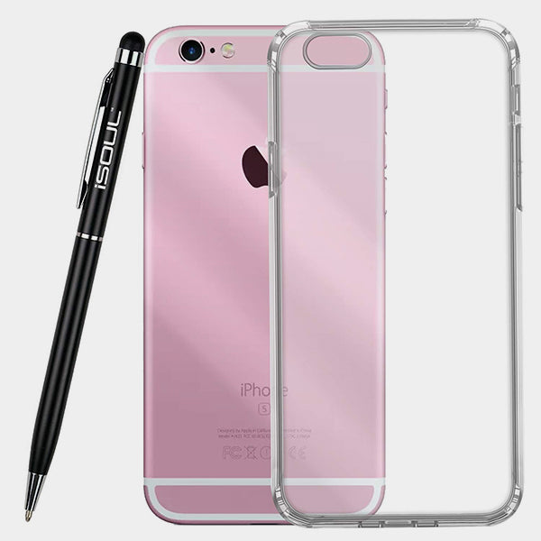 Gel Case iPhone Case Ultra Slim Transparent Soft Gel TPU Back Case Cover For iPhone 5, Apple 6, Electronics by iSOUL