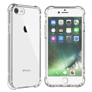 Bumper Back Gel Clear Case for Apple iPhone 7 - iSOUL