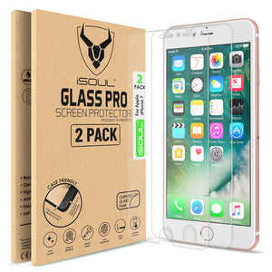 2X crystal clear Screen Protector for Apple iPhone 7 - iSOUL