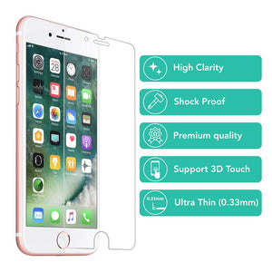 2X shockproof Tempered Glass Screen Protector for Apple iPhone 7 Plus - iSOUL