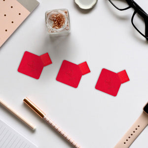 Pack of 3  quality PU leather Pen Loop Sticker for Notebooks - iSOUL