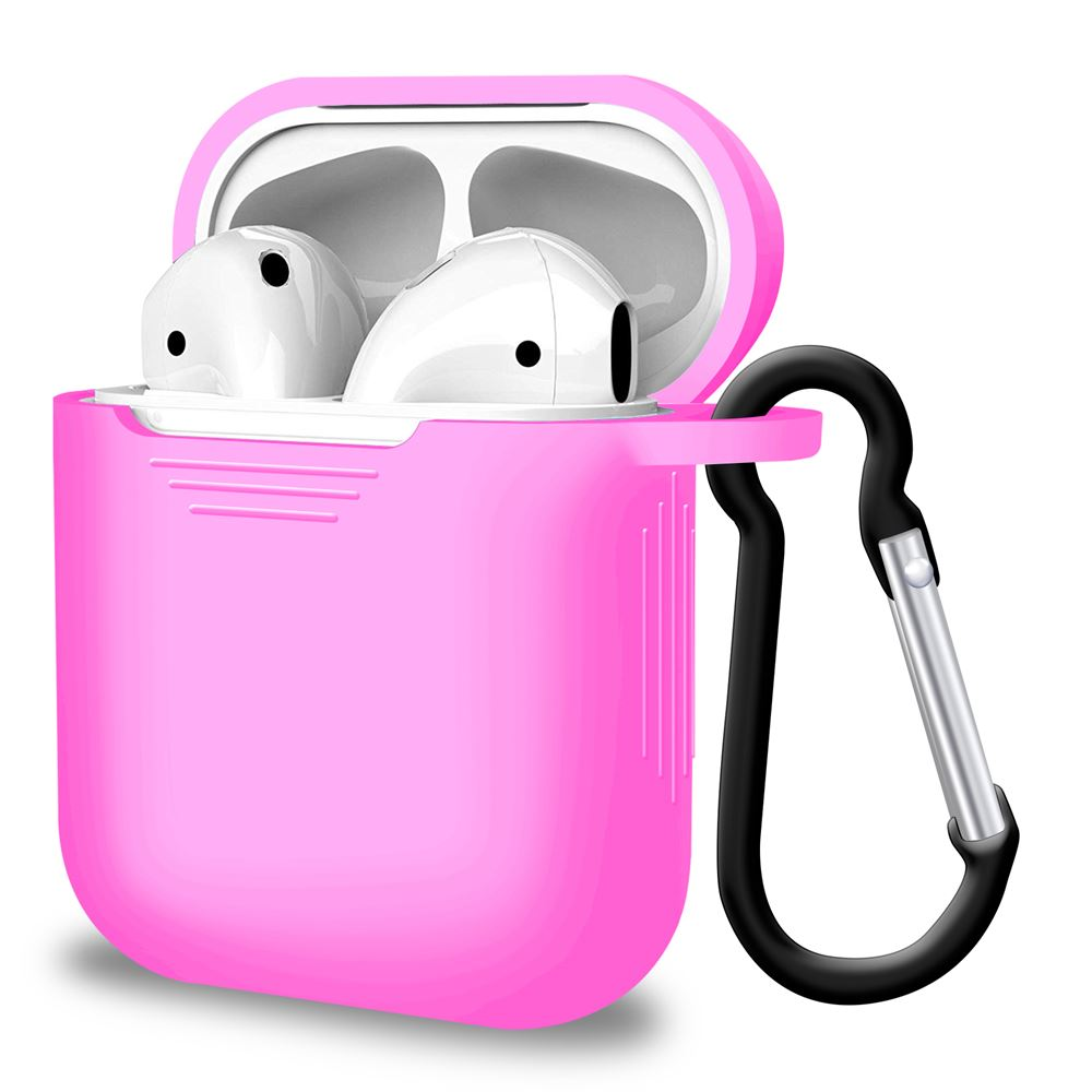 Pink Silicone Airpod Case for Airpods 1 and 2, Audio Accessories by iSOUL