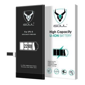 Premium Quality 2200 mAh Replacement Battery Compatible for iPhone 6 - iSOUL