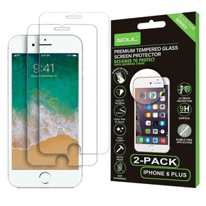 2x Apple iPhone 6 Plus Gorilla Shield Tempered Glass Screen Protectors - TradeNRG UK