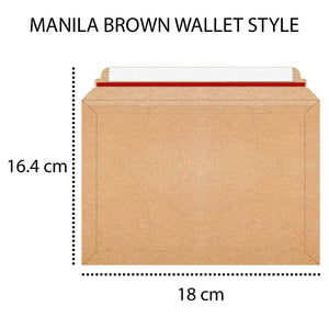 Envelope Wallet Bags Book Post Mailer Mailing Flute Manilla Brown Book