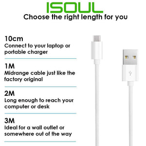Heavyduty USB C Type C Data Lead Fast Charge Phone Charger Extension Cable 2m 3m - iSOUL