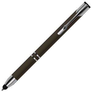Comfortable Stylus Touch Screen Pen with Ballpoint Nib Rubber Tip - iSOUL