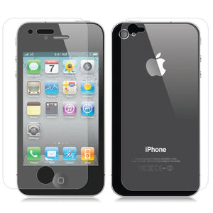 Front and Back  Tempered Glass for Apple iPhone 4 4s - iSOUL