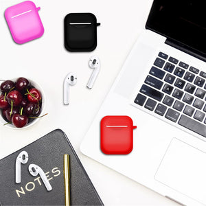 Red Airpods Case Cover for Airpods 1st Gen and 2nd Gen - iSOUL