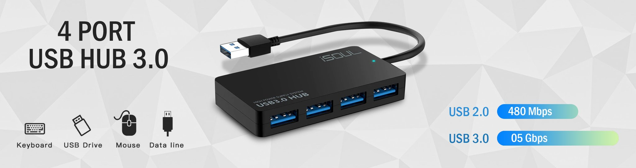 iSOUL 4 Port USB HUB