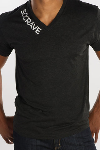 SC V-Neck - Socrave Athleisure Wear Men's T-Shirt