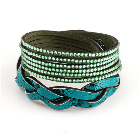 Vintage 7 Colors Multilayer Leather Bracelet - CrumelsWorld