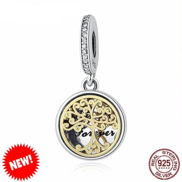 Sterling Silver Family Tree Charm - CrumelsWorld