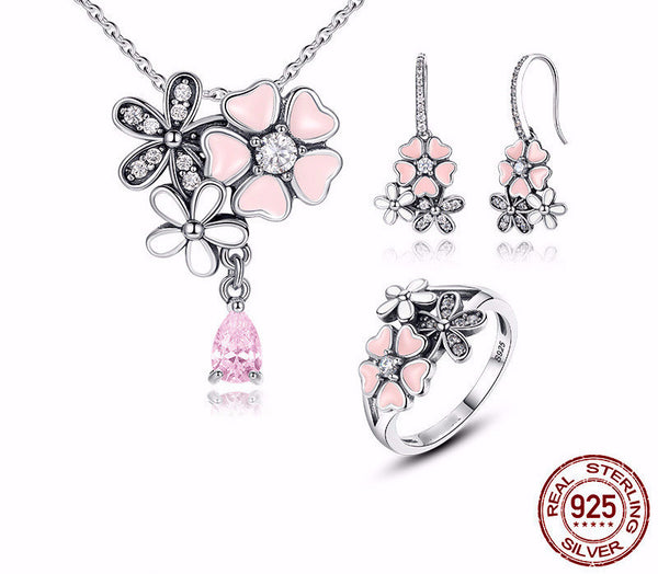 Sterling Silver Cherry Blossom Set
