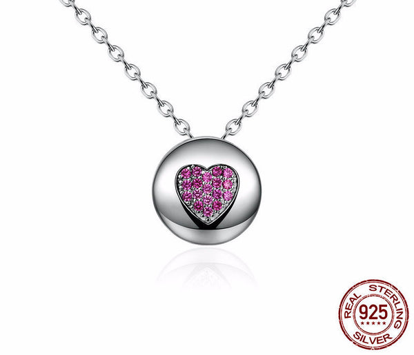 Sterling Silver Heart & Bowknot Pendant & Necklace - CrumelsWorld