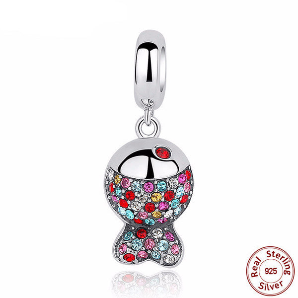 Sterling Silver Colorful Fish Charm - CrumelsWorld