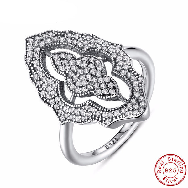Sterling Silver Sparkling Antique Ring - CrumelsWorld
