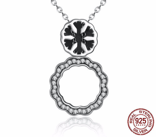 Sterling Silver Snowflake Pendant & Necklace - CrumelsWorld