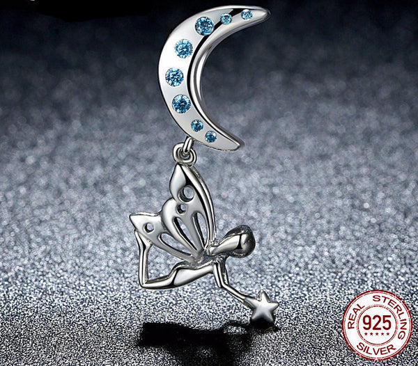 Sterling Silver Flower Fairy Charm - CrumelsWorld