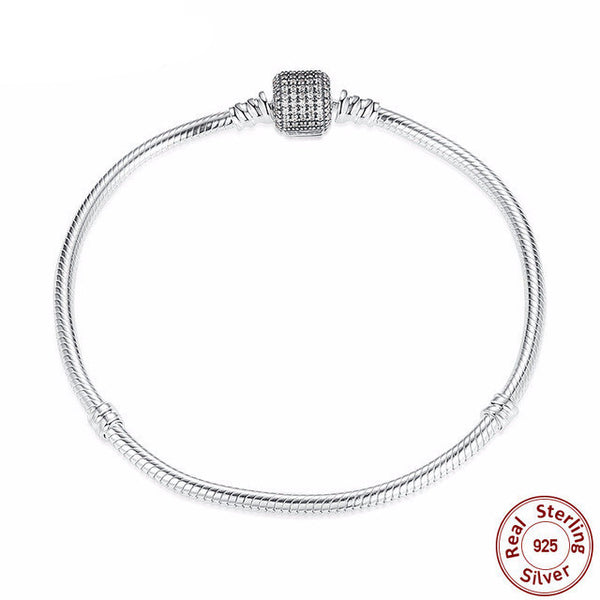 Sterling Silver Love Chain Bracelet - CrumelsWorld