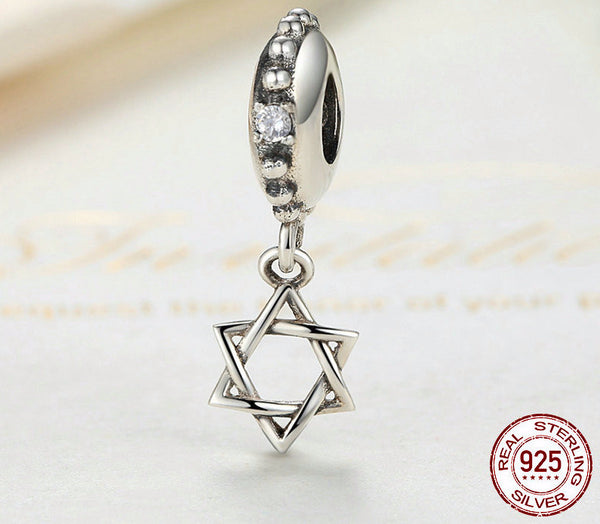 Sterling Silver Star of David Charm - CrumelsWorld