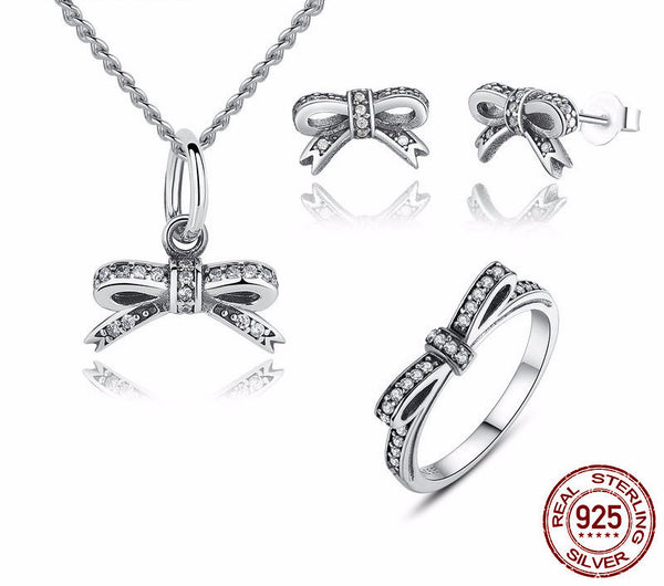 Sterling Silver Bowknot Set