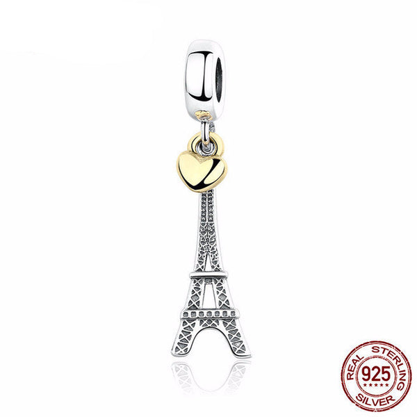 Sterling Silver Eiffel Tower Charm - CrumelsWorld