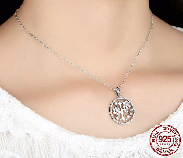 Sterling Silver Tree of Life Pendant & Necklace - CrumelsWorld