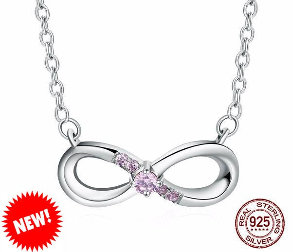 Sterling Silver Infinity Pendant & Necklace