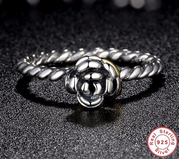 Sterling Silver Rose Ring - CrumelsWorld