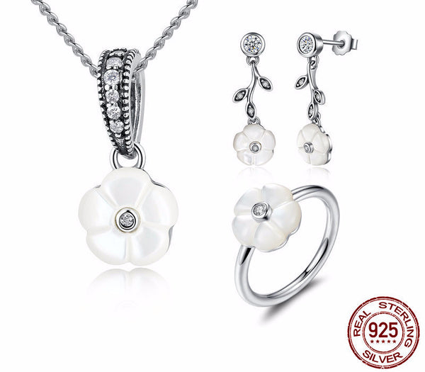 Sterling Silver Luminous Florals Set