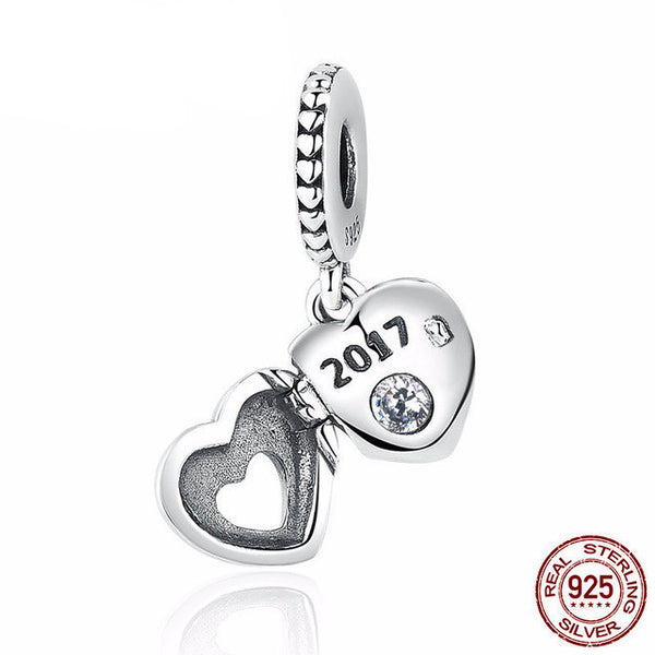 Sterling Silver New Year 2017 Charm - CrumelsWorld