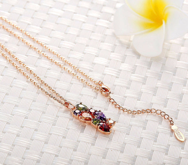 Classic Multicolored CZ Necklace - CrumelsWorld