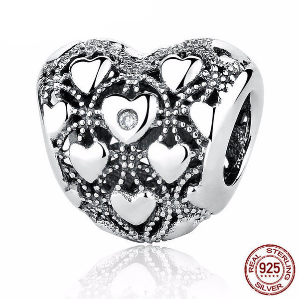 Sterling Silver Heart Charm - CrumelsWorld
