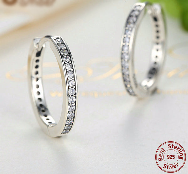 Sterling Silver Hoop Earrings - CrumelsWorld