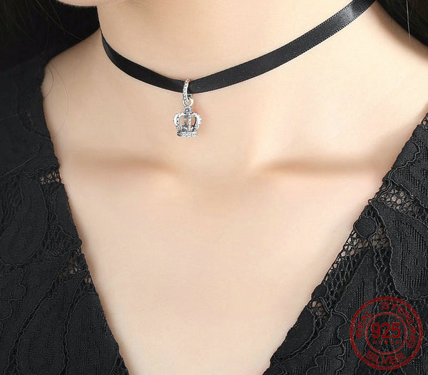 Sterling Silver Crown Choker - CrumelsWorld