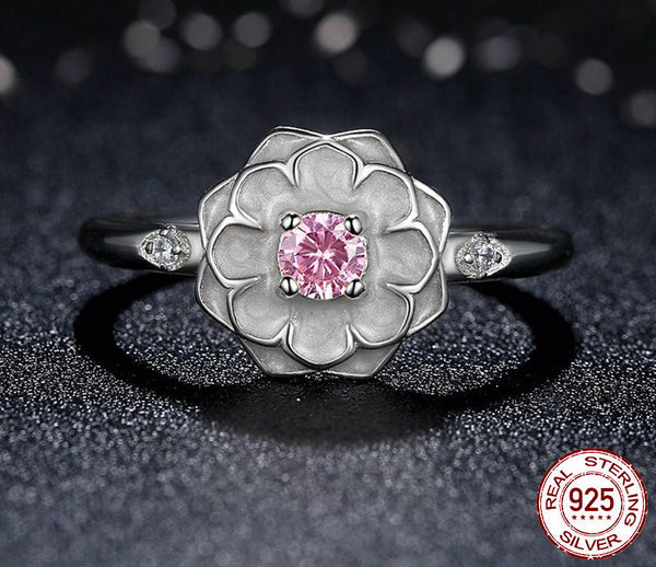 Sterling Silver Blooming Dahlia Ring - CrumelsWorld