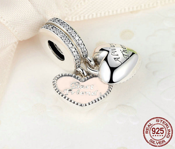 Sterling Silver Best Friends Charm - CrumelsWorld