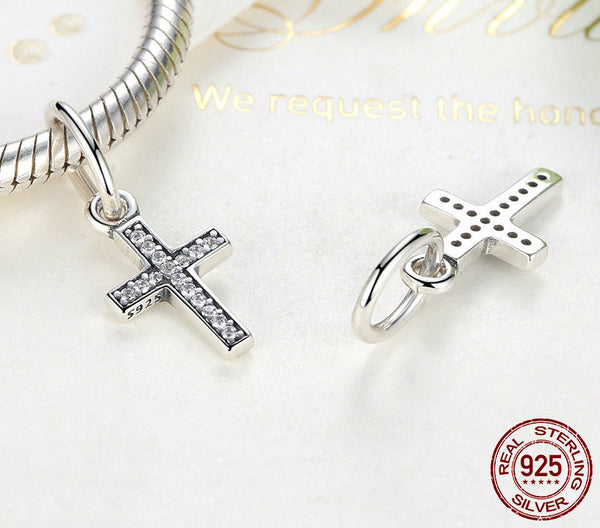 Sterling Silver Cross Charm - CrumelsWorld