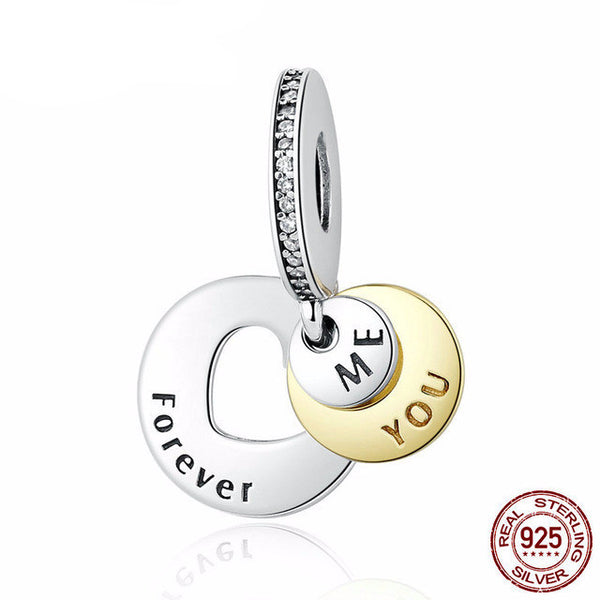 Sterling Silver You & Me Forever Charm - CrumelsWorld
