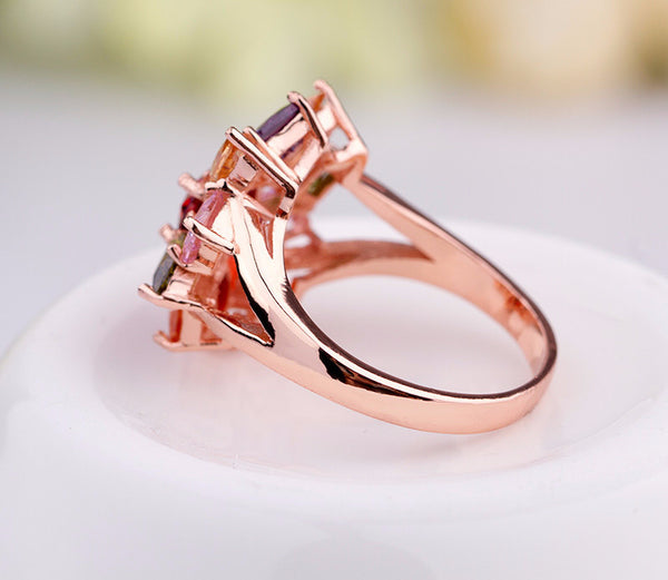Rose Gold Daisy Ring - CrumelsWorld