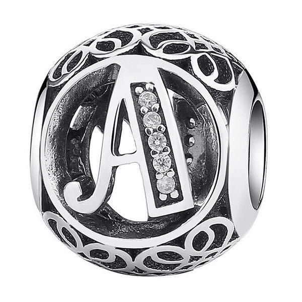 Sterling Silver Alphabet Letter A Charm - CrumelsWorld