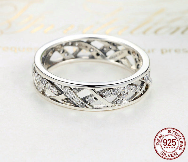 Sterling Silver Vintage Fascination Ring - CrumelsWorld