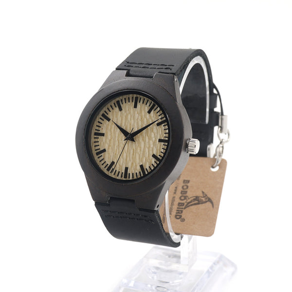BOBO BIRD Ebony Wood Watch Unisex - CrumelsWorld