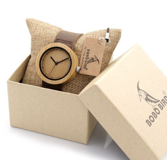 BOBO BIRD Casual Wooden Watch Unisex - CrumelsWorld