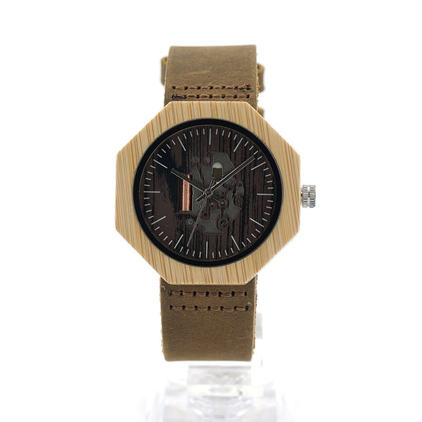 BOBO BIRD Hollow Wooden Watch Unisex - CrumelsWorld
