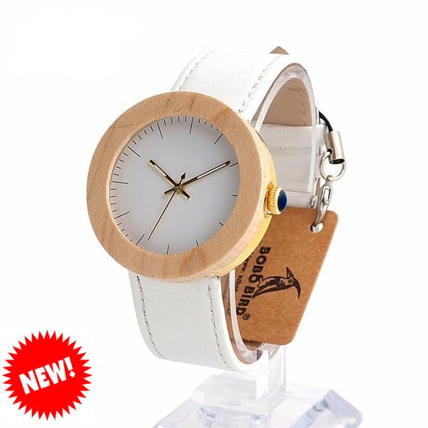 BOBO BIRD Maple Wood Watch for Women - CrumelsWorld