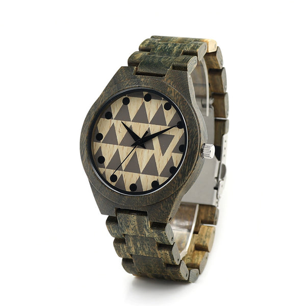 BOBO BIRD Green Sandal Wood Watch Unisex - CrumelsWorld
