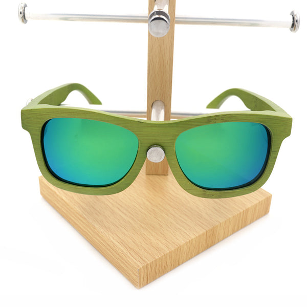 BOBO BIRD Green Sandal Wood Sunglasses - CrumelsWorld