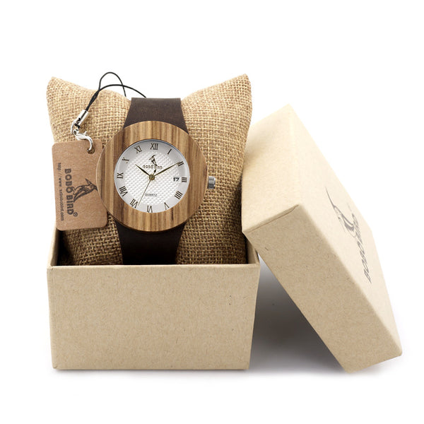 BOBO BIRD Luxury Wooden Watch for Women - CrumelsWorld